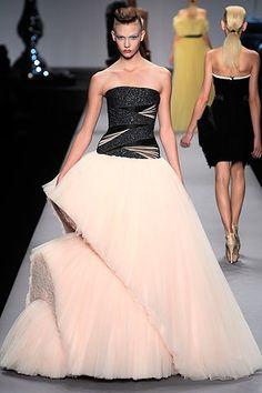fabric manipulation skirt, catwalk show
