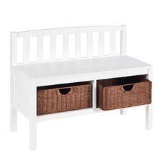 SEI White Bench with Two Brown Rattan Baskets SEI http://www.amazon.com/dp/B001B57UE2/ref=cm_sw_r_pi_dp_Tknvub13XSXXQ