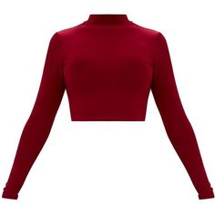 Designer Clothes, Shoes & Bags for Women Girls Fashion Clothes, Girl Fashion, Fashion Outfits, Stylish Outfits, Cool Outfits, High Neck Shirts, Maroon Shirts, Maroon Tops, Vetement Fashion