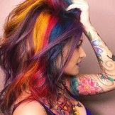 Daring Colorful Hair and Pretty Tattoo Ideas