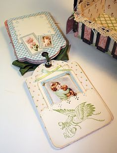 Little Darlings Cradle Graphic 45 Mini Scrapbook Albums, Mini Albums, Scrapbook Pages, Scrapbooking Ideas, Epiphany Crafts, Online Scrapbook, Card Tags, Greeting Card, Wood Stamp