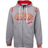 San Francisco 49ers NFL Knockout Full Zip Hoodie Sweatshirt (Medium)