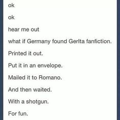 Prussia would be the one to find it and send it, but say it was from West.