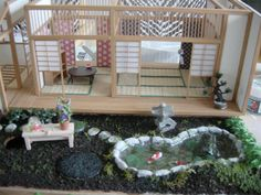 Mini japanese style house and garden