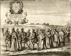 Wenceslaus Hollar's 17th-century depiction of London's Dance of Death