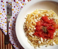 Easy, simple & health! Ricotta Spaghetti