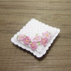 Hey, I found this really awesome Etsy listing at https://www.etsy.com/listing/260054955/miniature-cushion-with-little-pink