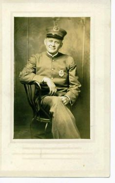 """mont thornburg, my great-great-uncle, LAPD, 1920's.  i was going thru my box of old photos & found that """"monty"""", montraville, was police captain for 29 years; he belonged to the """"crime crusher"""" squad during prohibition, working out of the georgia street police station in L.A."""