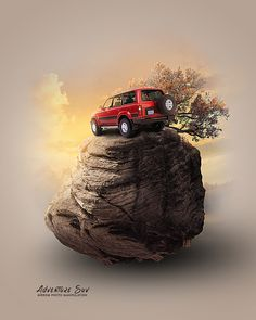Today we will have fun making photo manipulation of Suv's adventure in Photoshop.