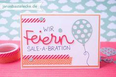 """JanasBastelecke: Kreativer Montag 87 - Kleine Grußkarte """"Wir feiern Sale-A-Bration"""""""