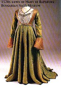 1520 gown of Mary of Hapsburg Hungarian Nat'l Musewm