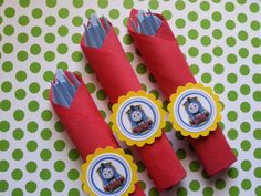 Thomas the train utensils for candy buffets by bellecaps on Etsy