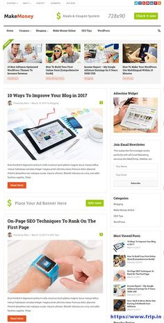 MakeMoney WordPress Blog Theme With Coupon Functionality By Happy Themes  Post link: https://www.frip.in/makemoney-wordpress-blog-theme/