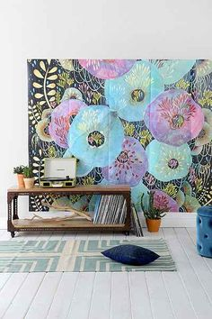 Lulie Wallace Flowers For Phoebe Wall Mural - Urban Outfitters