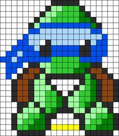 Ninja Turtles Leonardo Perler Bead Pattern / Bead Sprite