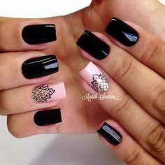 By Madáh Santana Nail Art  в Instagram: «Nails #mimo #black #filha #única…