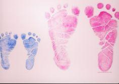 DIY   Little Foot Prints (little brother + big sister)