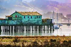 PHOTO  HALF Moon BAY 0850 Color  Photograph Artwork by RamblinFeverImages on Etsy