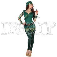 Disfraz Duende Verde para mujer - Dresoop.es