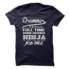 Drummer only because full time multitasking T Shirts, Hoodies. Check Price ==► https://www.sunfrog.com/LifeStyle/Drummer-only-because-full-time-multitasking.html?41382 $23