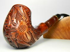 """Authors Tobacco Smoking pipe """"Spider - Black Widow"""" Handmade,Rare + Gift POUCH"""