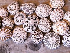 crochet covered stones....interesting. I'd do this if I could actually count while crocheting....but I can't keep track. Have to leave it to those talented peoples like my gf Sarah.