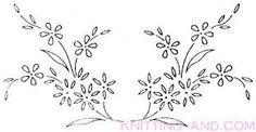 Imagini pentru FLOWER EMBROIDERY TRANSFER