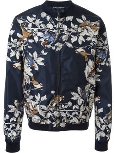 Shop Dolce & Gabbana bird print bomber jacket in Spazio Pritelli from the world's best independent boutiques at farfetch.com. Shop 400 boutiques at one address.