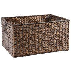 Carson Espresso Shelf Storage Basket - Large | Pier 1 Imports