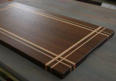 Items similar to Walnut & Maple Wood Cutting Board, or serving board, in a Striped Pattern on Etsy End Grain Cutting Board, Diy Cutting Board, Wood Cutting Boards, Butcher Block Cutting Board, Into The Woods, Wood Projects, Woodworking Projects, Modern Apartment Design, Wood Slab