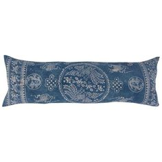 Blue & White Batik Hill Tribe Pillow (480 CAD) ❤ liked on Polyvore featuring home, home decor, throw pillows, pillows, blue and white throw pillows, blue and white home decor and antique home decor