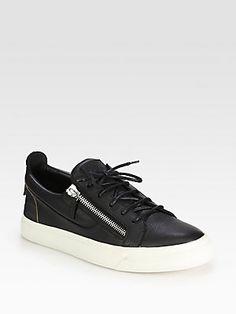 Giuseppe Zanotti Low-Top Zip Sneakers, made in Italy, $550