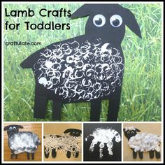 These five lamb crafts for toddlers are super easy and fun to do! Includes straw prints, sponge prints, handprints, cotton wool and shredded paper crafts. Sheep Crafts, Farm Crafts, Daycare Crafts, Sunday School Crafts, Easter Crafts, Toddler Art, Toddler Crafts, Crafts For Kids, Farm Activities
