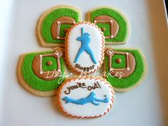 Lizy B: Your Favorite Cookies of 2012 Baseball cookies Ice Cream Cookies, Sugar Cookies, Baseball Cookies, Baseball Birthday, Softball Party, Baseball Party, Baseball Mom, Cookie Designs, Cookie Ideas