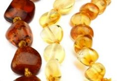 Amber teething necklaces are made from baltic amber which is amber found in the Baltic States. Amber is fossilized resin, so how exactly does this help a teething baby? <br /><br /> Baltic amber has high levels of succinic acid which has analgesic pr