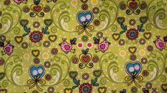*Stoff♥Vögel-Blumen♥ Elsa Baumwollstoff*  verpielt & hübsch für     Wunderschöner Stoff für deine kreative Zeit ob Taschen,Loops, Kleidung,Gardinen...
