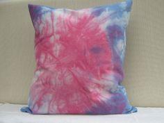 Shibori Navy Bluemagenta Throw Pillow cover Cotton by AddisonMade, $45.00