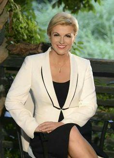 The Hottest President In The World, Kolinda Grabar-Kitarović President Of Croatia, Hottest Politicians, Sexy Bikini, Wife Pics, Power Dressing, Older Women Fashion, Hottest Pic, Belle, Croatia