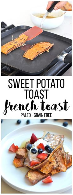 Sweet Potato Toast French Toast - a fun and paleo twist on a delicious breakfast!