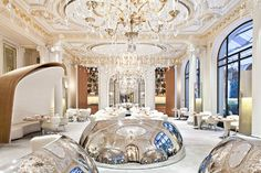 Be Inspired by These Stylish Restaurants in Paris  http://parisdesignagenda.com/be-inspired-by-these-stylish-restaurants-in-paris/ #restaurant #Paris #holidays #style #design #Interiors