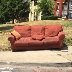 Brown sofa, spotted on State Street.