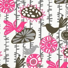Menagerie Preppy Pink Indoor/Outdoor Fabric by Premier Prints