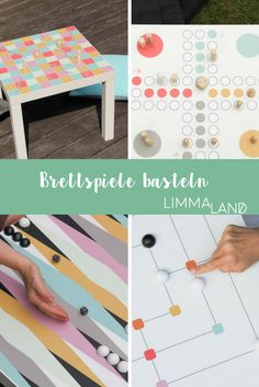 Brettspiele basteln - 5 Motive passend für den IKEA LACK Tisch machen das ganz einfach. Spielspaß für drinnen und draußen, denn Brettspiele sind nie aus der Mode. Zustäzlich gibt es Ideen für selbst gemachte Spielfiguren bei uns auf dem Blog!
