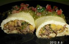 Steak and egg roll...Totally going to try making this. :)