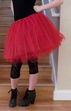 Red Adult Teen Tutu Skirt. I'll make one for you jessa @Jeren Schmidt Dippel-James