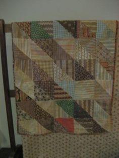 19th c homespun fabric doll quilt