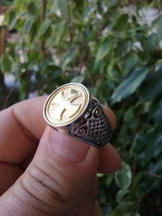 Varouxi anillo masónico Cruz plata 925 oro enchapado por Varouxi
