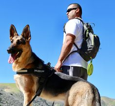 Awesome day out in Southern California for a hike with my German Shepherd. My three must haves when hitting the trail head are my Osprey Viper backpack, Julius K9 dog harness, and the Messy Mutts collapsible water bowl. Fun fun fun!!