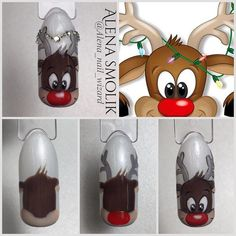 Nail Art Noel, Winter Nail Art, Christmas Nail Art, Holiday Nails, Winter Nails, Fancy Nails, Love Nails, Pretty Nails, Gold Glitter Nails
