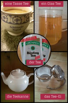 Deutsch am Donnerstag - Tee - Angelika's German Tuition & Translation Learn German, German Language, Drinking Tea, Tea Time, Learning, Languages, Tableware, Vocabulary, Inspiration